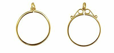 Jewelco London 9ct Gold Plain Lightweight Full Sovereign Coin Mount Pendant