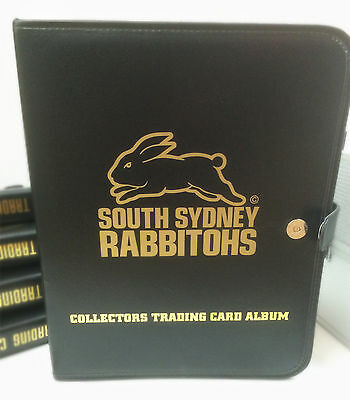 NRL CLUB Collector Card 3-Ring Album ( Inc. 10 pages)-SOUTH SYDNEY RABBITOHS