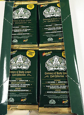 2008 Select Centenary Of Rugby League Cards Series 4-Sealed Pack Unit