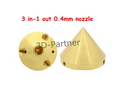 3D printer 3in-1out Multi-Color brass 0.4mm nozzle 1.75mm Filament for Extruder