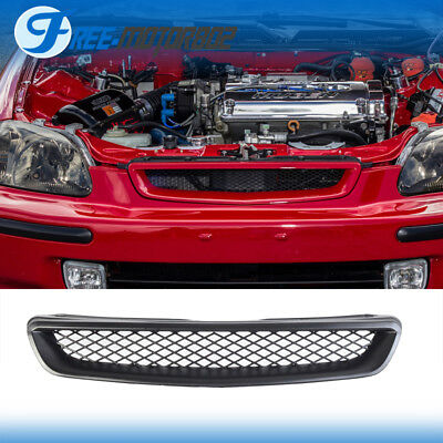 For 96-98 Honda Civic EK CX DX EX HX LX JDM Type R Front Hood Grill Grille Abs