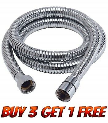Extra Long Stainless Steel Chrome Flexible Shower Head Hose Bathroom Pipe New