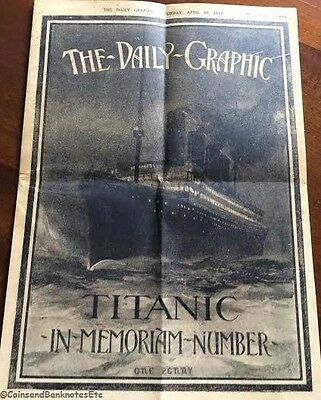 1912 Rms Titanic Newspaper Dailey Graphic Full Of Photos And Stories (1)