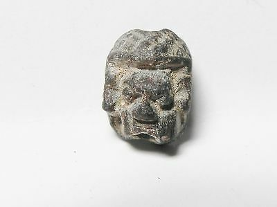 Zurqieh -Af140- Ancient Egypt , New Kingdom Human Face Scarab, 1400 B.c