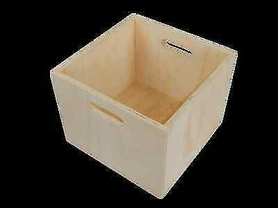 Timber storage box, milk crate, Ply Crate,Vinyl Records storage box