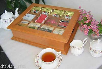 TEA1-Maho Elegant Tea Bag Chest Cabinet with glass door cover solid wood