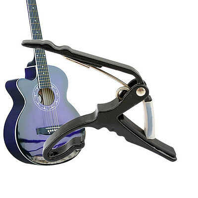 Classic Guitar Quick Change Clamp Key Capo For Acoustic Electric Guitar Black