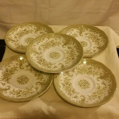 5 Pieces Royal Staffordshire Green Avondale Ironstone J & G Meakin