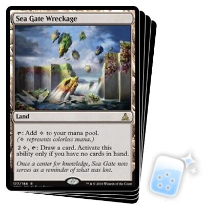 Sea Gate Wreckage X4 M/NM Magic: The Gathering MTG Oath Of The Gatewatch