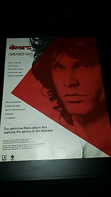 The Doors Greatest Hits Rare Original Promo Poster Ad Framed!