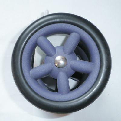 """Pair Of Navy Replacement 4 3/8"""" Cart/stroller Wheel Parts 698"""