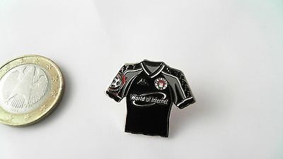 FC St. Pauli Trikot Pin Badge World of Internet schwarz grau