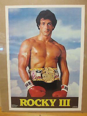 Vintage 1982 Rocky III original boxing movie poster Sylvester Stallone 11392