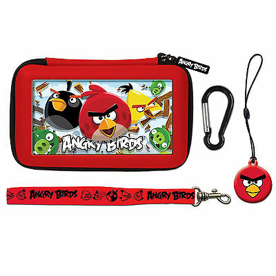 ANGRY BIRDS 3D Gamer Carry Case Set For Nintendo DSi/3DS (4PC), Red