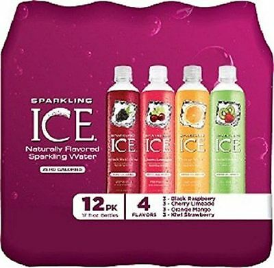 Sparkling ICE Variety Pack,17oz (Pack of 12) Bold flavor,zero calories, vitamins