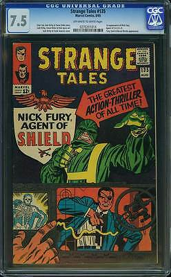 Strange Tales # 135  First Nick Fury Agent of SHIELD !  CGC 7.5 scarce book !