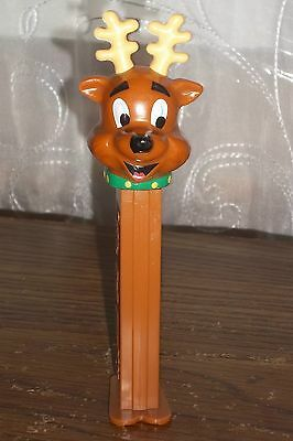 PEZ  Reindeer Christmas Dispenser With Feet China Vintage 2002 Collectible