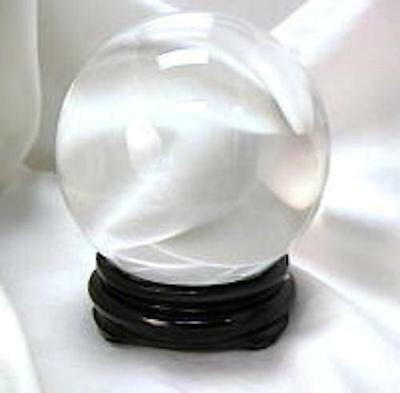 Clear 50mm Crystal Ball with Stand!