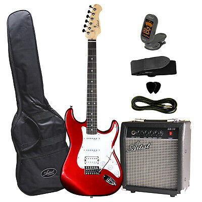 Artist STHPK Candy Apple Red Electric Guitar Package with Amp  - New