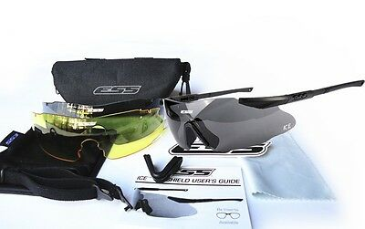 Safety Glasses Tactical Army Goggles 3pcs Lens ESS ICE Outdoor Hunting Wargame