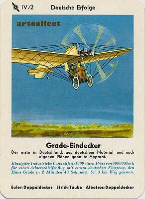 Single Vintage German Game Card: Grade-Eindecker