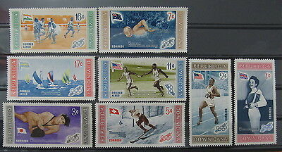 A197 Dominican Republic 1958 16Th Olympic Games Melbourne Set Mnh**