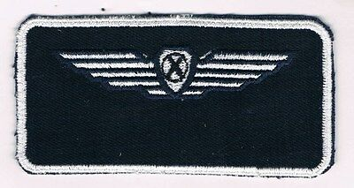 Israel Iaf Pilot Wing Tag Airborne Test Flight  Engineer Nametag Patch