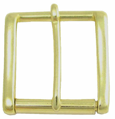 "BRASS HEAVY DUTY ROLLER BELT BUCKLE - for snap fit belts 1.5"" wide (38-40mm)"