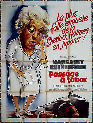 1964 MURDER AHOY Miss Marple Margaret Rutherford RARE French 47x63 film poster
