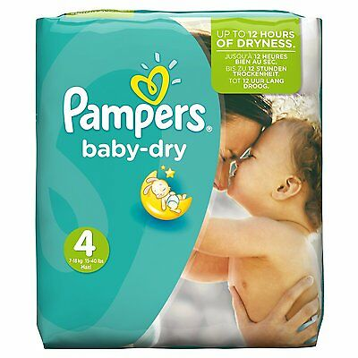 Pampers Baby Dry Nappies, Monthly Saving - Size 4 (Maxi), Pack of 174 FREE P&P