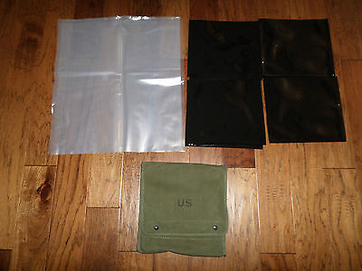 Genuine U.s Military Map And Photograph Case With Waterproof Inserts Od Green