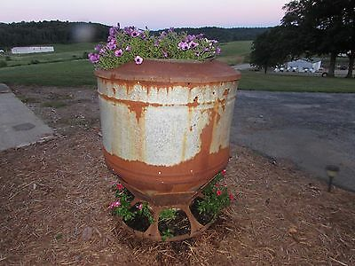 Antique Hog Feeder Flower Tower Planter Yard Art Upcycle Recycle  #2462