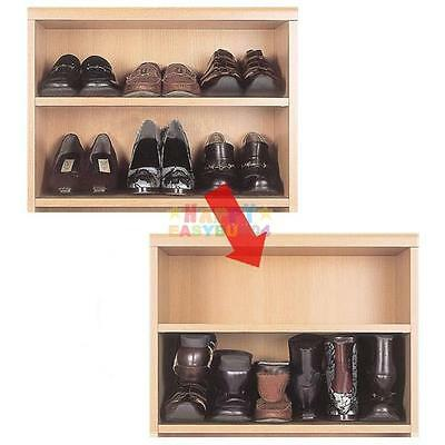 1 Pair Space Saver Shoes Rack Organizer Shoes Holder Supporter Closet Storage
