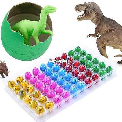 60pcs Hatching Dinosaur Egg Add Water Growing Egg Kids Magic Inflatable Toy