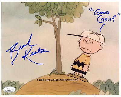 "(SSG) BRAD KESTEN Voice of ""Charlie Brown"" Signed 10X8 Photo with a JSA COA"