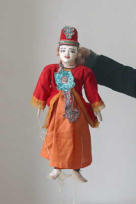 Old BURMA marionette, string puppet