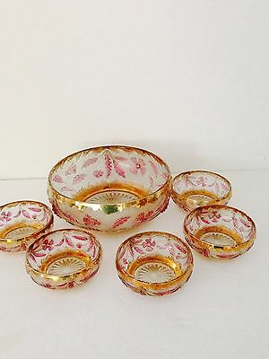 EAPG U.S. Glass Delaware Flash Bowl Set Made in 1890's