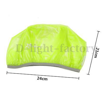 RockBros Bicycle Bike Rain Cover Helmet Dust Cover Windproof Green for MTB Road