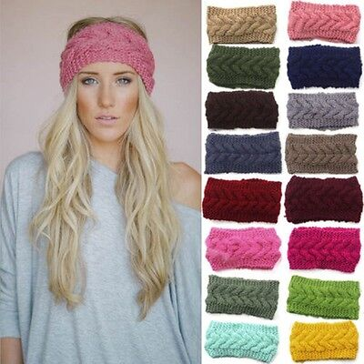 Fashion Women Winter Warm Knit Wool Beret Hat Beanie Braided Crochet Ski Cap