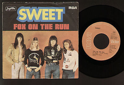 "7"" Sweet Fox On The Run / Miss Demeanour Original Jugoslavia Yugoton Rca Glam"