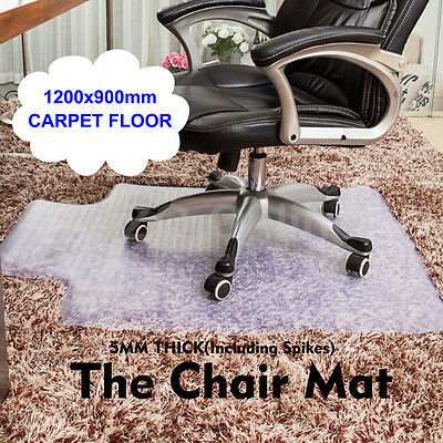 1200 x 900mm Carpet Floor Office Computer Protector Work Chair Mat Plastic NEW