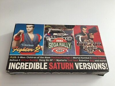 Very Rare Sega Saturn Video Tape memorabilia Magazine - Promotional Previews