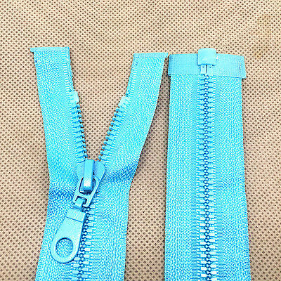 "NEW 2 pcs L-blue RESIN ZIP ZIPS ZIPEER ZIPPERS 27.5"" 70CM for Clothing or bag #"
