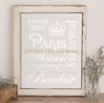 STENCIL A4 - FRENCH ELEMENTS COLLECTION 1 ❤️ Furniture SHABBY CHIC 190 Mylar