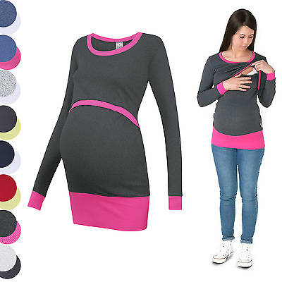 3in1 Maternity Sweatshirt Multifunctional Nursing Breastfeeding TUNIC TOP