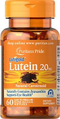 LUTEIN 20MG with Zeaxanthin x60 Softgels PURITANS, FREE SHIPPING 24HR DISPATCH