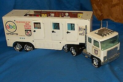 Nylint CBS Sports Tractor Trailer Broadcasting Rig 1980 Winter Games Toy Truck