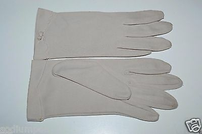 """Nice Vintage Gray? Very Light Lavender? One Size FOWNES 8"""" Formal Gloves RARE"""