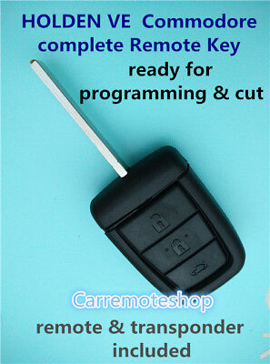 HOLDEN VE  Commodore  complete Remote Key with remote & transponder