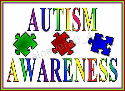 Autism Awareness Iron On Transfers, Create T Shirts Bags Etc Cheaply D2